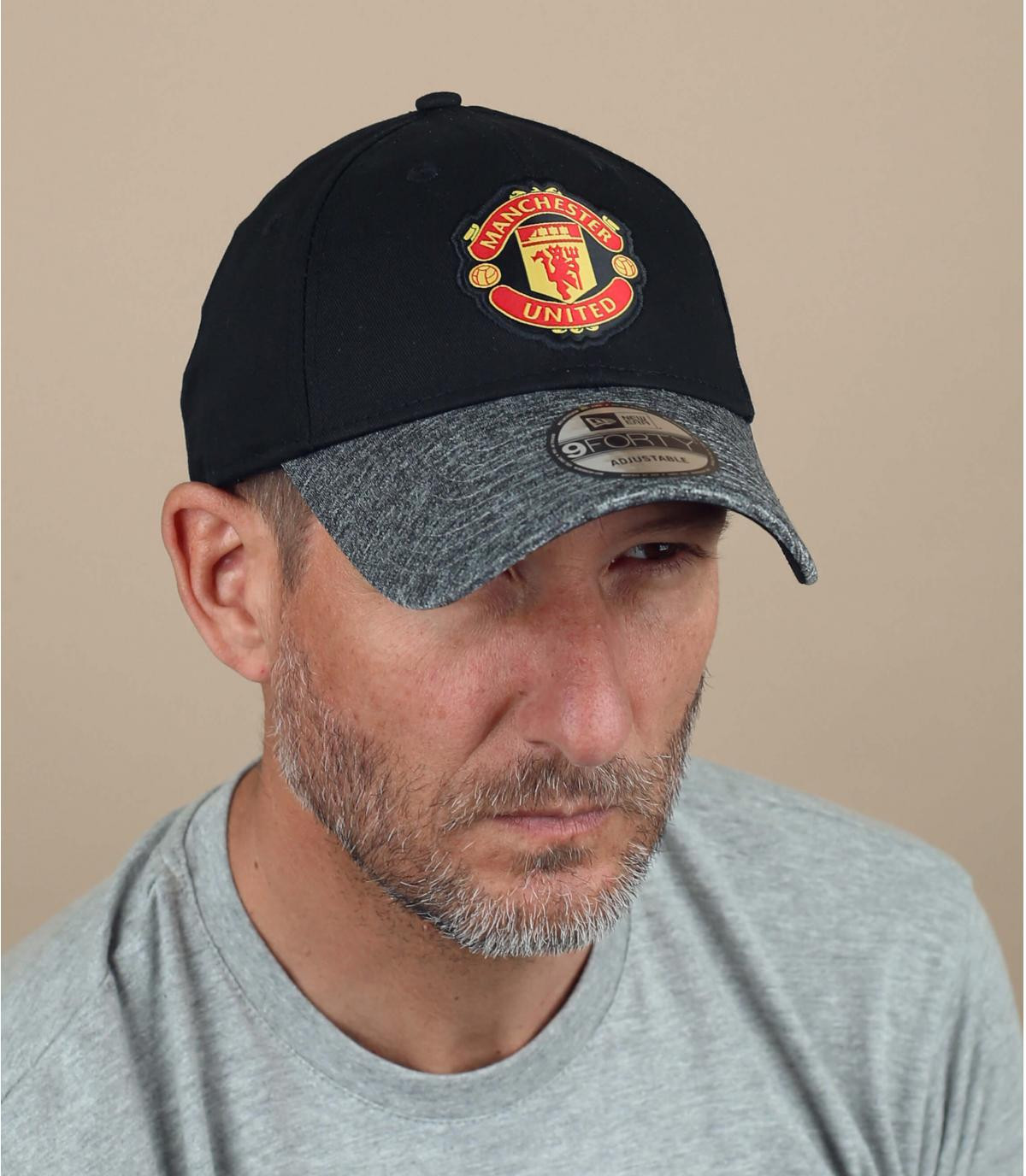 Cap Manchester schwarz grau