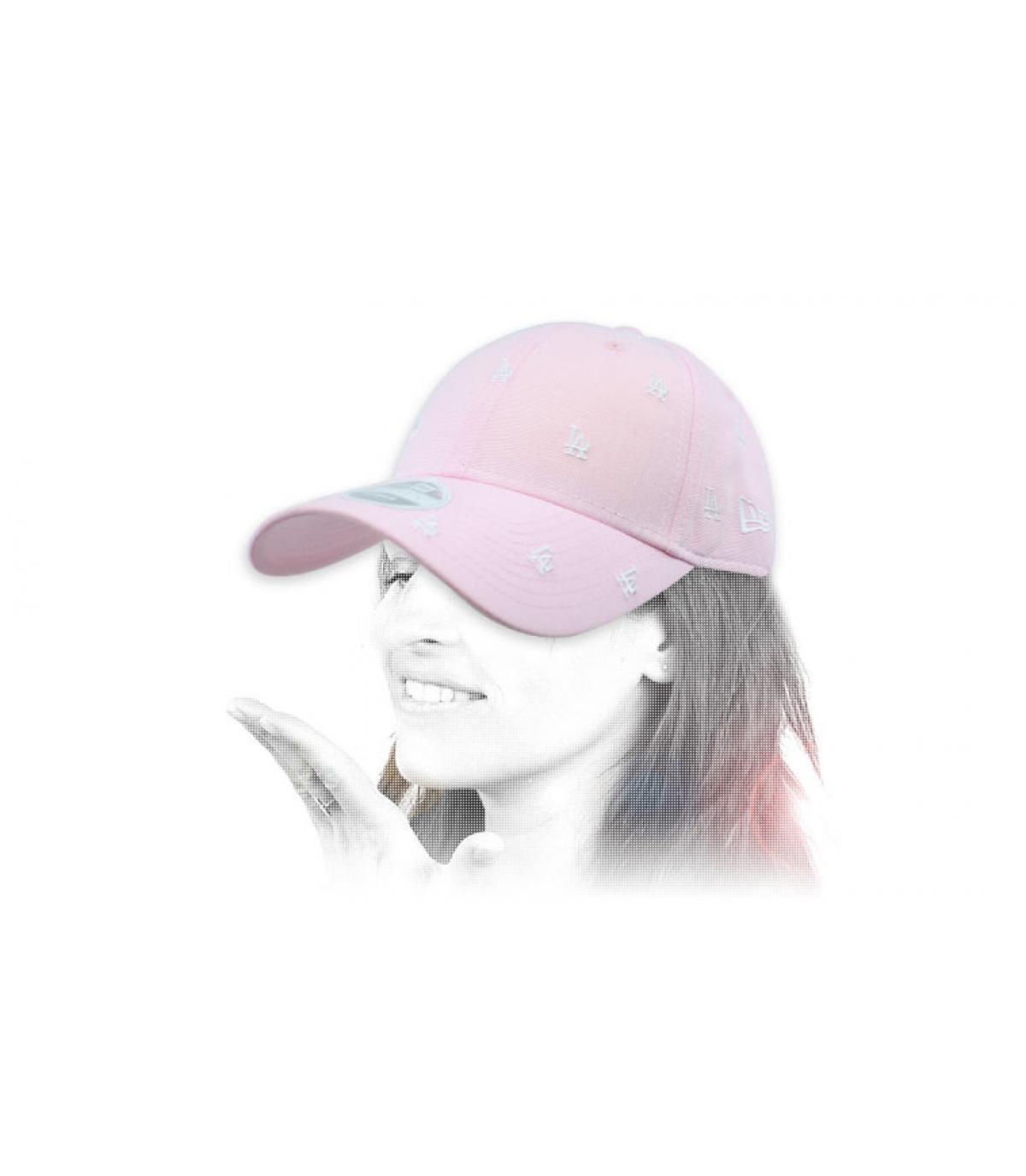 Damen Cap LA rosa Monogramm