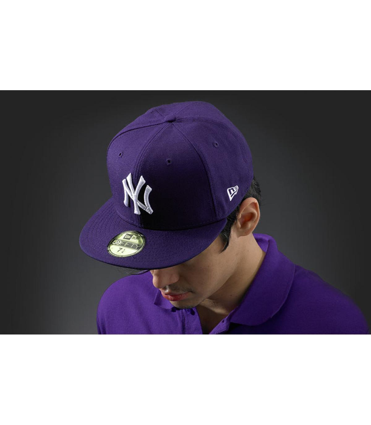 Cap New York lila