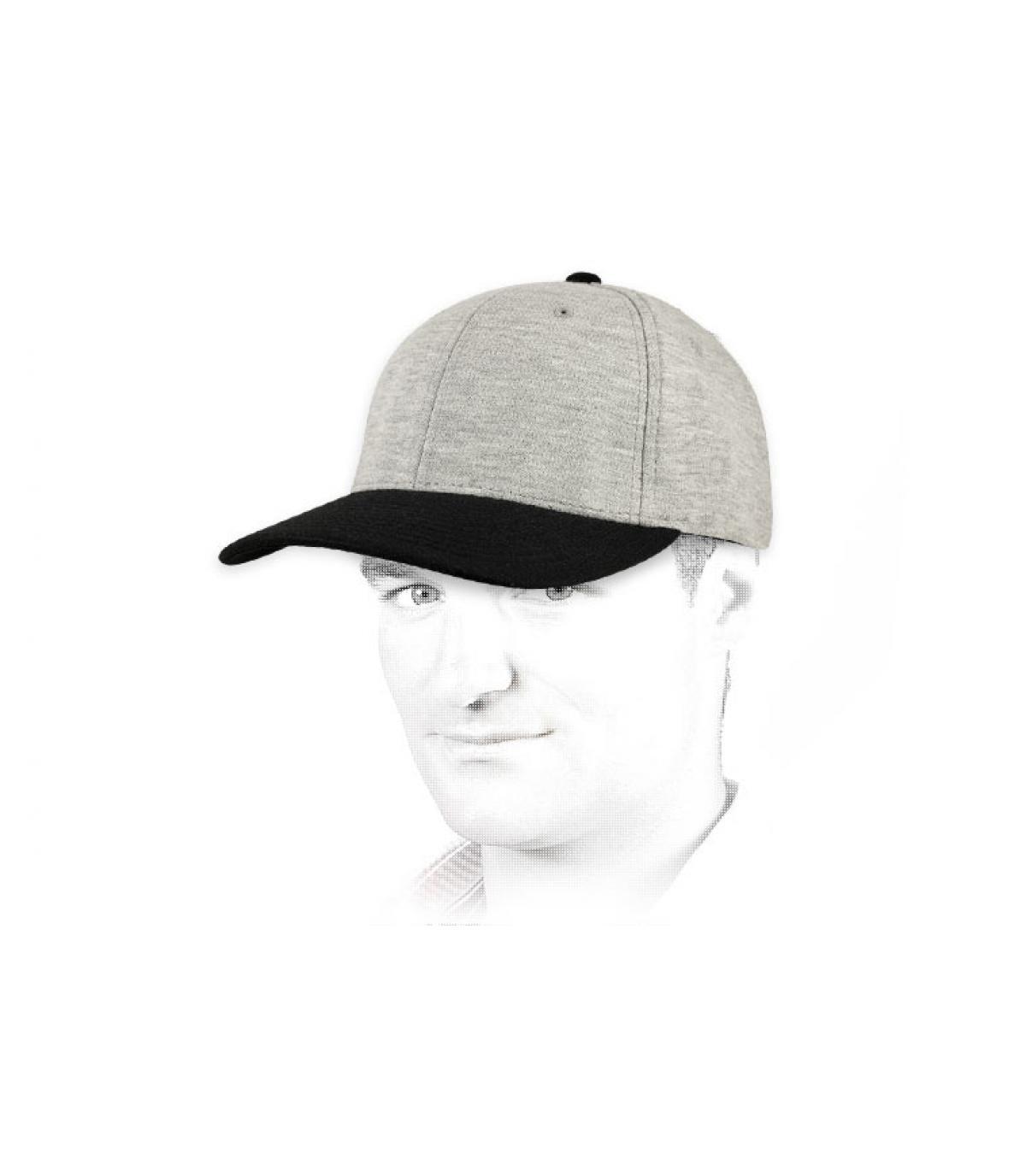 Cap Jersey graue schwarze