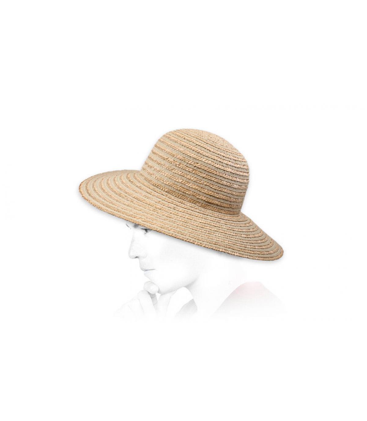 Capeline beige Strohhut