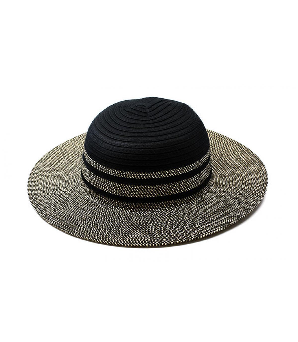 Capeline Strohhut schwarz