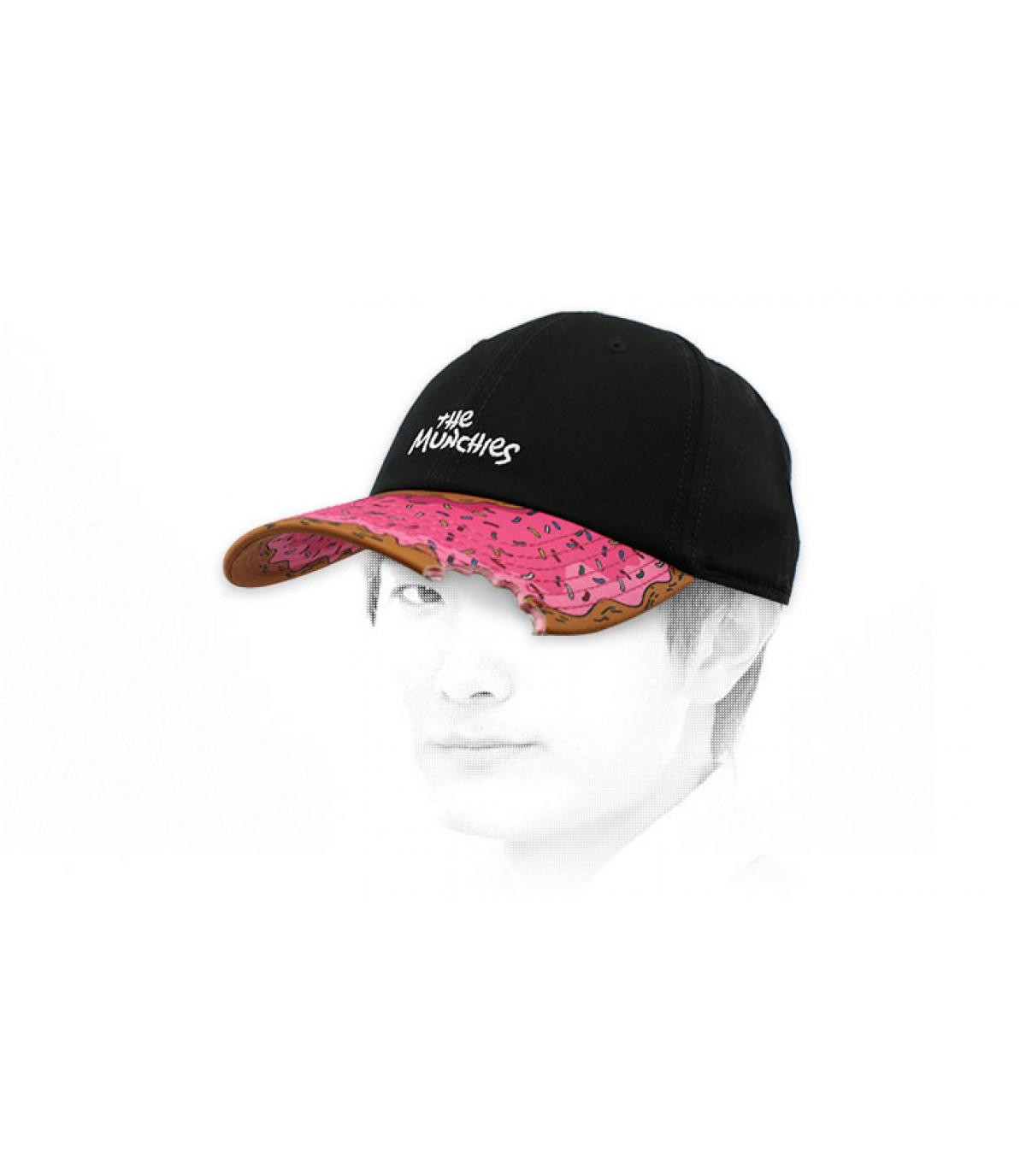 Cap Donut schwarz rosa