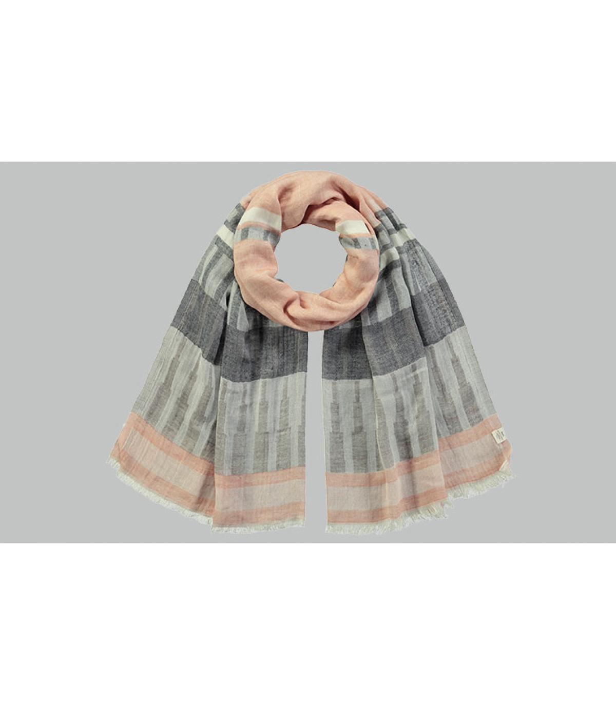 Schal Baumwolle Streifen schwarz
