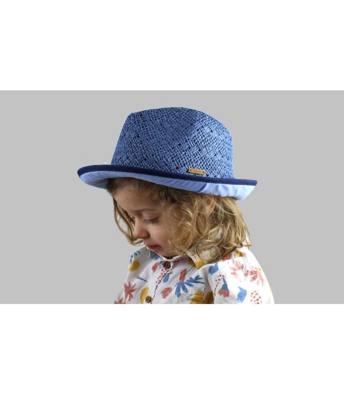 Kinder Trilby blau